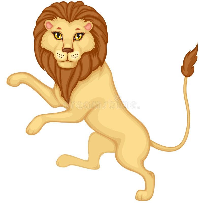 Download Cartoon heraldic lion stock vector. Image of africa, cute - 26935316