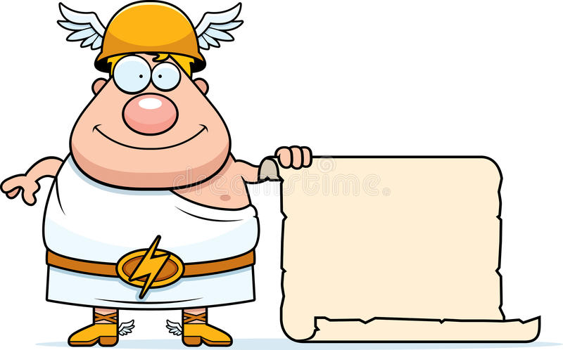 Cartoon Hermes Sign stock vector. Illustration of helmet ...