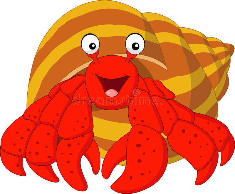 Cartoon hermit crab. Illustration of Cartoon hermit crab vector illustration