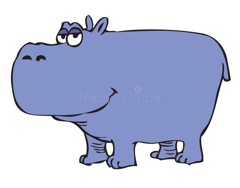 Cartoon Hippopotamus Stock Photo