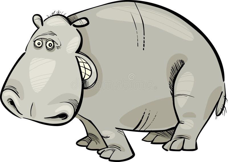 Cartoon Hippopotamus Royalty Free Stock Photos