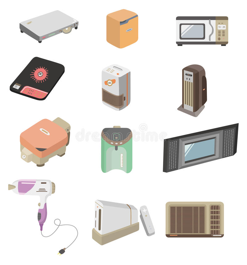 Download Cartoon Home Appliance Icon Stock Photo - Image: 17951130