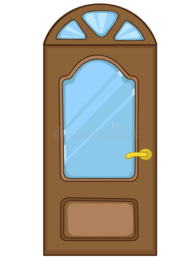 Cartoon Home Door royalty free illustration