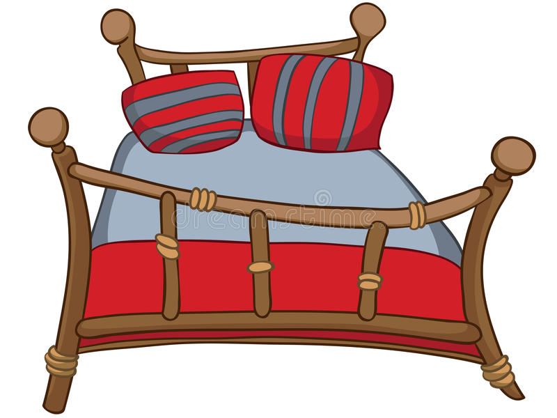 Cartoon Home Furniture Bed vector illustration