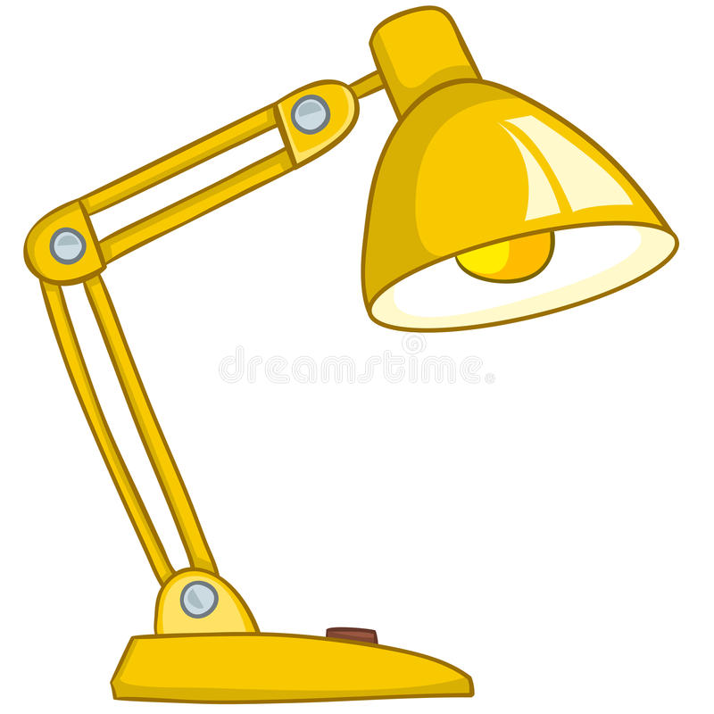 Cartoon Home Lamp royalty free illustration