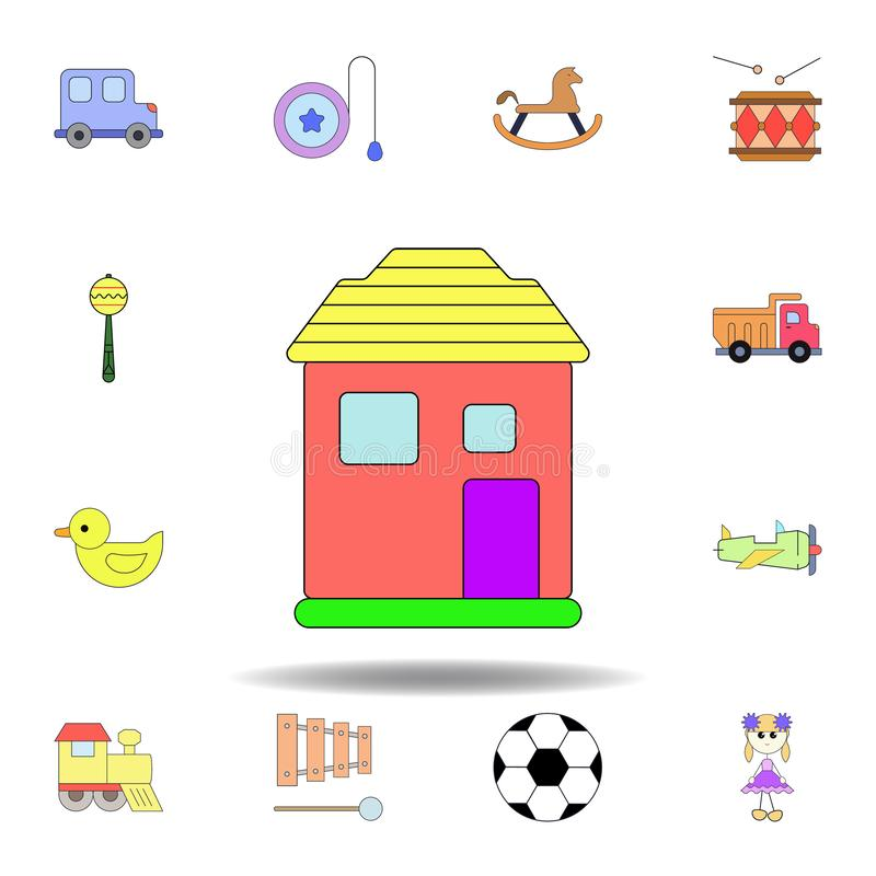 cartoon home toy colored icon. set of children toys illustration icons. signs, symbols can be used for web, logo, mobile app, UI, vector illustration