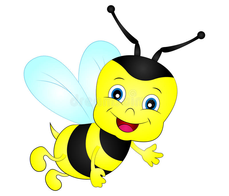 cartoon honeybee clip art stock vector illustration of honeybee rh dreamstime com honey bee clip art images free honey bee clip art free