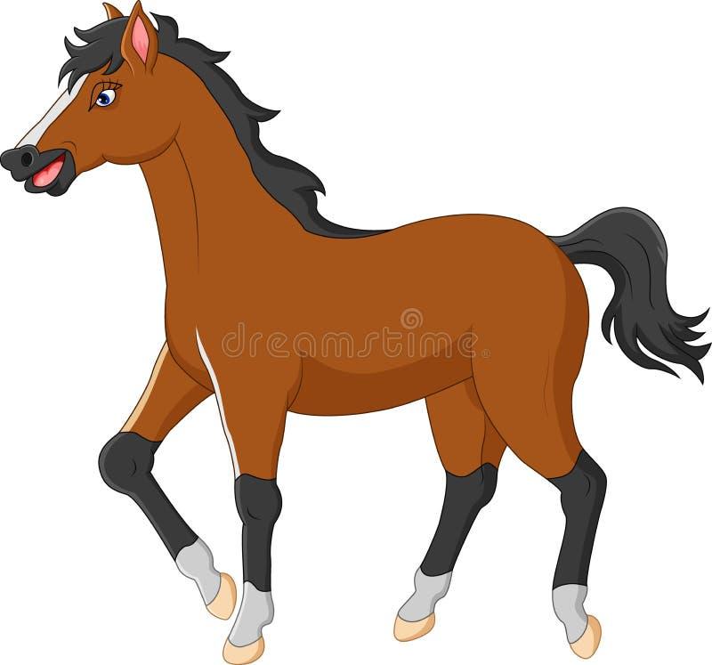Cartoon horse royalty free illustration