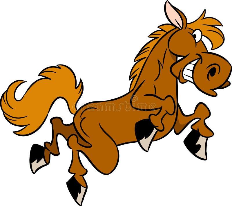 Cartoon horse stock illustration