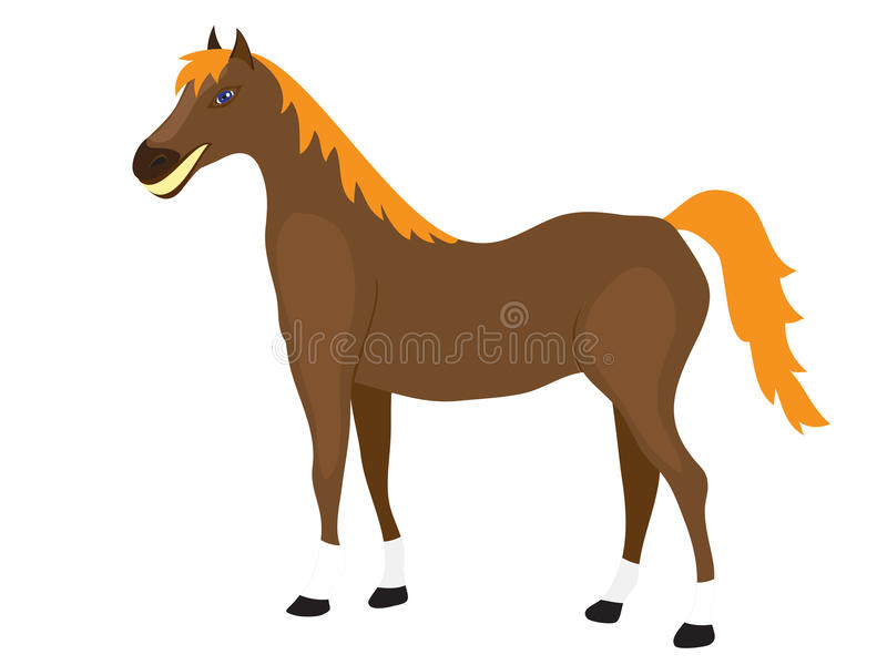 Download Cartoon Horse Stands Royalty Free Stock Photo - Image: 25358055