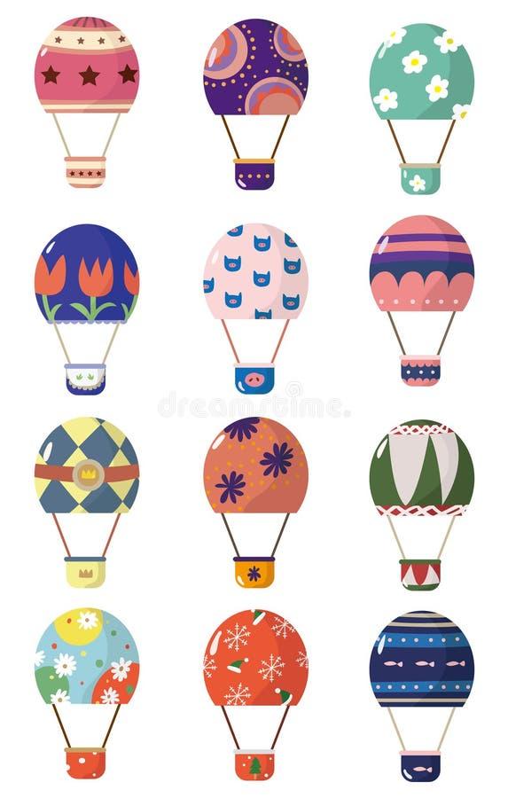 Cartoon Hot Air Balloons Stock Images