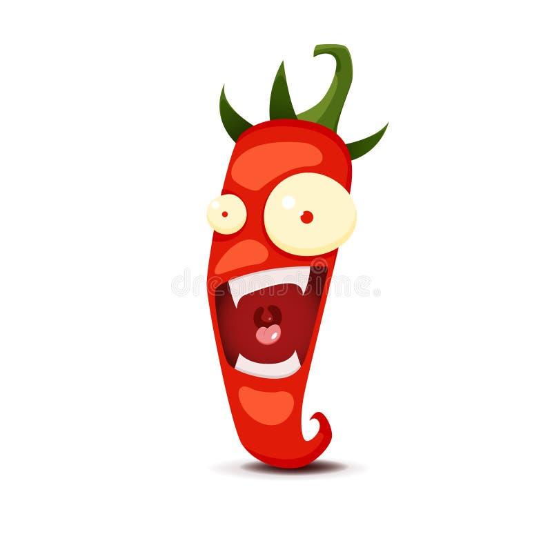 Cartoon Hot chili pepper vector illustration stock illustration