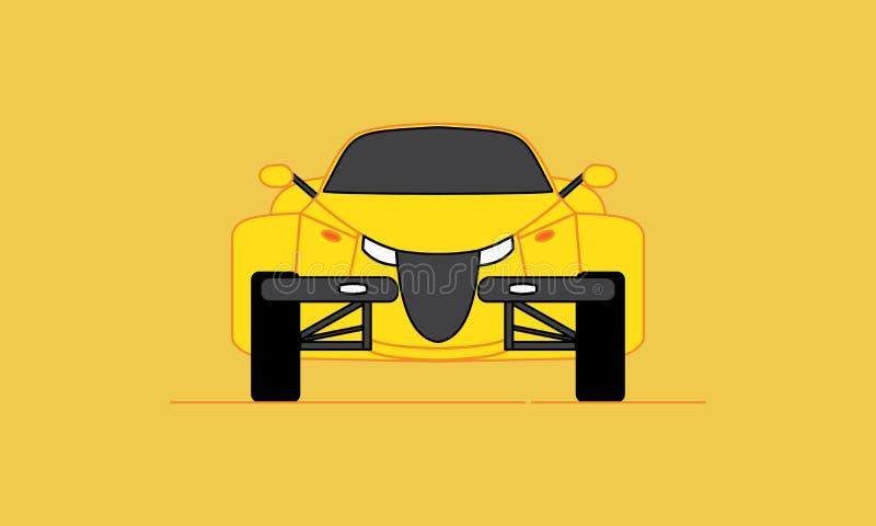Cartoon Hotrod Car. Muscle car silhouette american classic automotive automobile transport transportation. Logo Design vector illustration