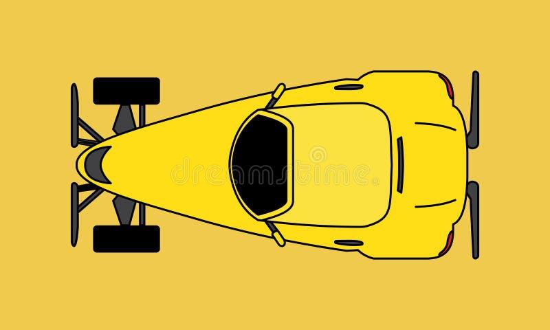 Cartoon Hotrod Car. Muscle car silhouette american classic automotive automobile transport transportation. Logo Design royalty free illustration