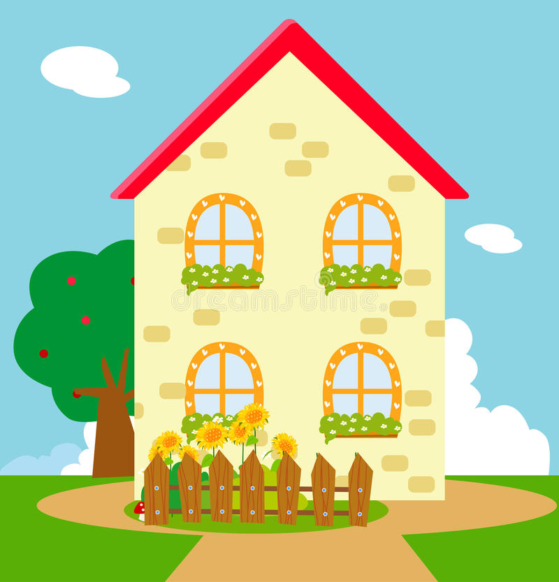 Cartoon Characters Houses : Cartoon house stock vector illustration of character