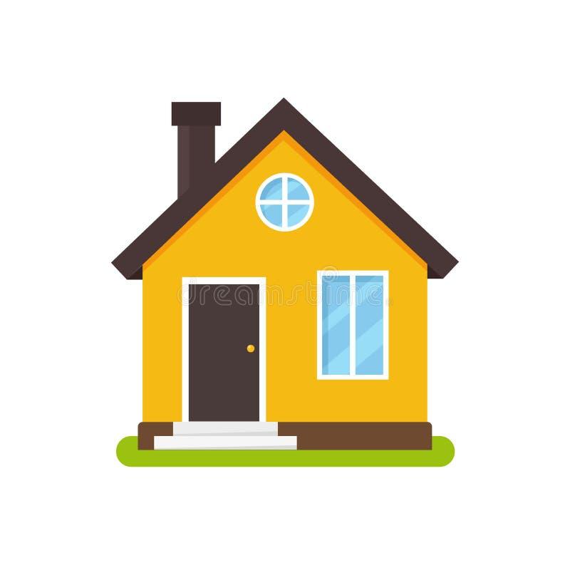Cartoon house façade in platte stijl vector illustratie