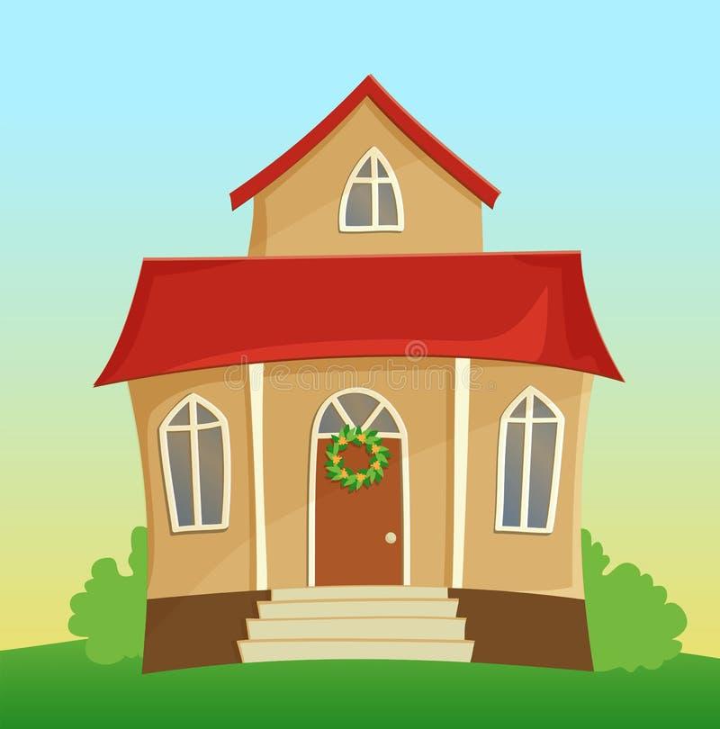 Cartoon house stock vector illustration of friendly for Casas de jardin infantiles