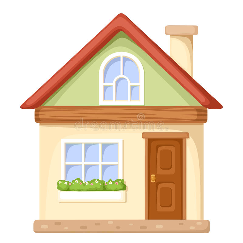 Cartoon house vector illustration stock vector image for Casita infantil jardin