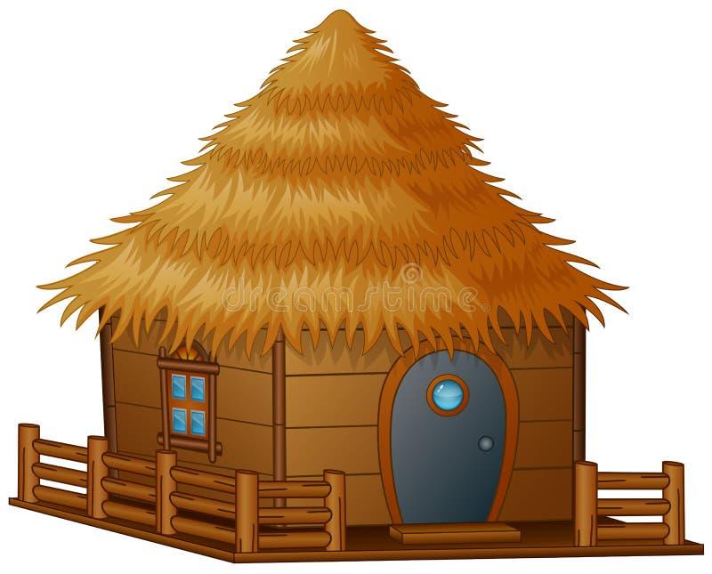 cartoon hut white background illustration 79357021