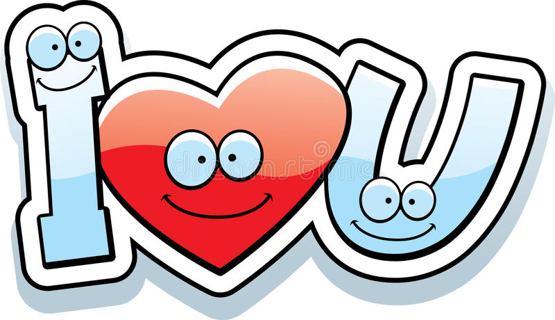 cartoon i love u text stock vector illustration of cartoon 51124282 rh dreamstime com i love u clipart i love you clipart