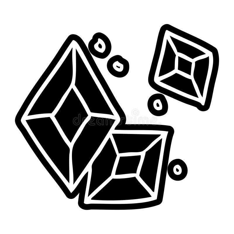 Cartoon icon of some ruby gems. A creative cartoon icon drawing of some ruby gems vector illustration