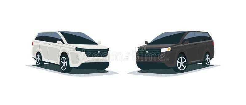 Cartoon illustration of an Abstract 4x4 Suv Mpv Family Car stock illustration