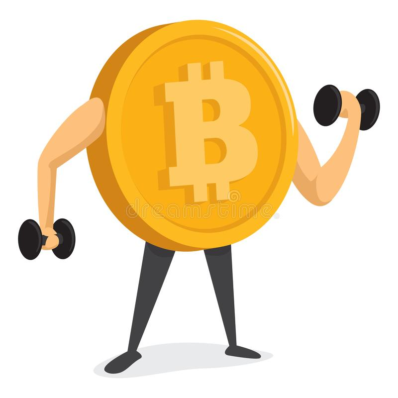 Bitcoin currency training and getting strong stock illustration