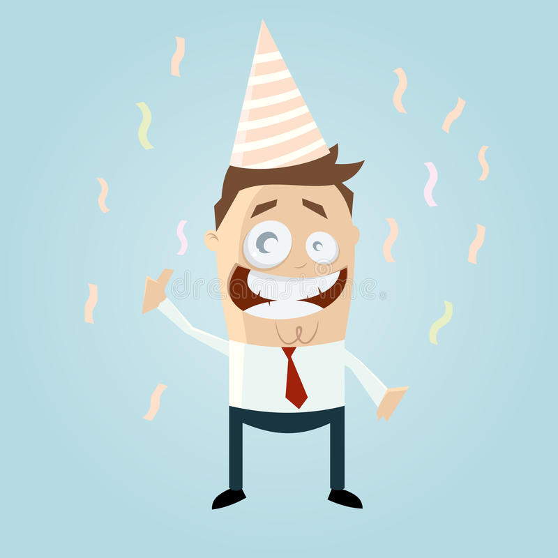 Businessman at party stock illustration