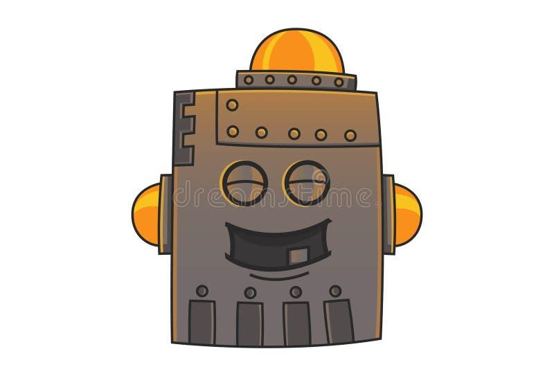 Cartoon Illustration Of Cute Iron Man. stock illustration