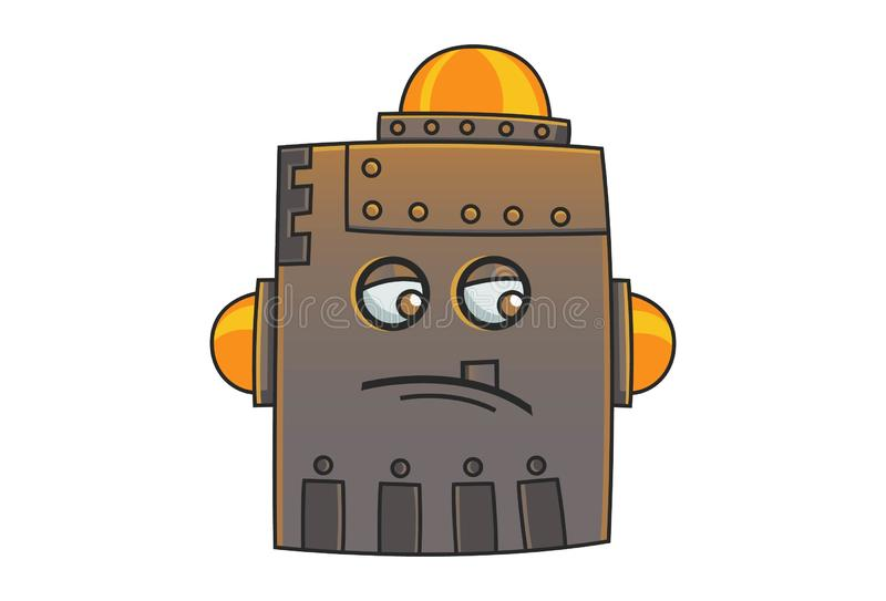 Cartoon Illustration Of Cute Iron Man. royalty free illustration