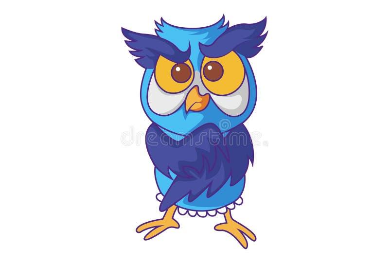 Cartoon Illustration Of Cute Owl stock illustration