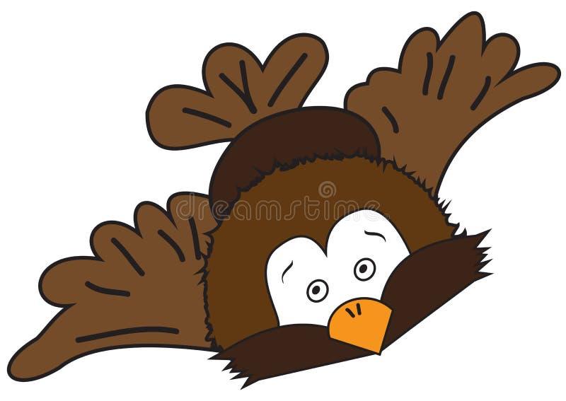 Cartoon flying bird stock illustration