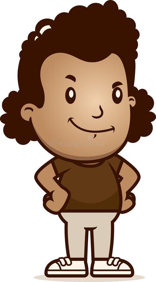 Cartoon Girl Confident. A cartoon illustration of a girl looking confident stock illustration