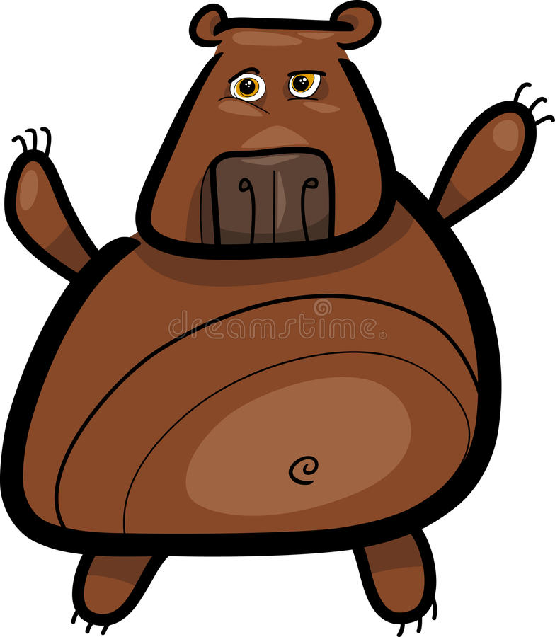 Download Cartoon Illustration Of Grizzly Bear Stock Vector - Image: 25747732
