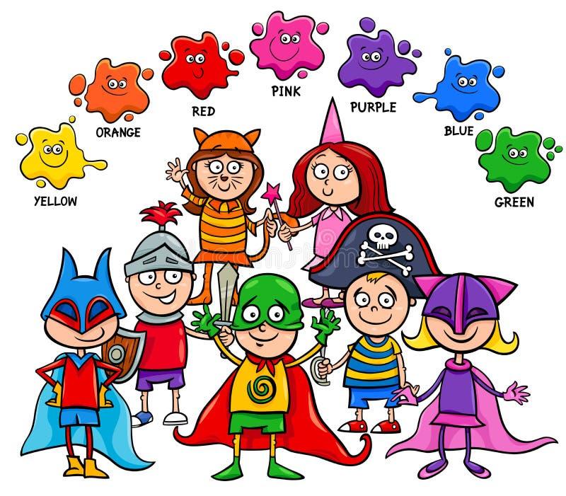 Basic Colors Educational Board For Kids Stock Vector - Illustration ...