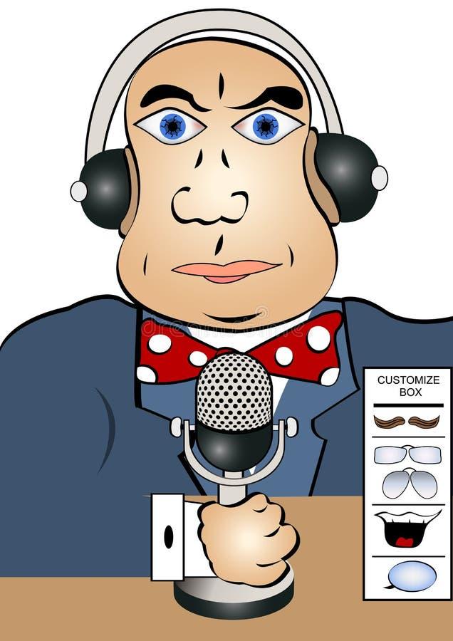 Download Reporter stock vector. Image of newsreader, male, speak - 30259101