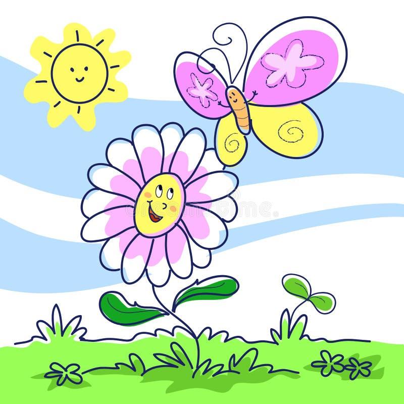 cartoon illustration spring 向量例证