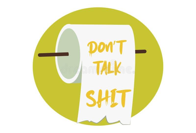 Cartoon Illustration Of Toilet Paper stock illustration