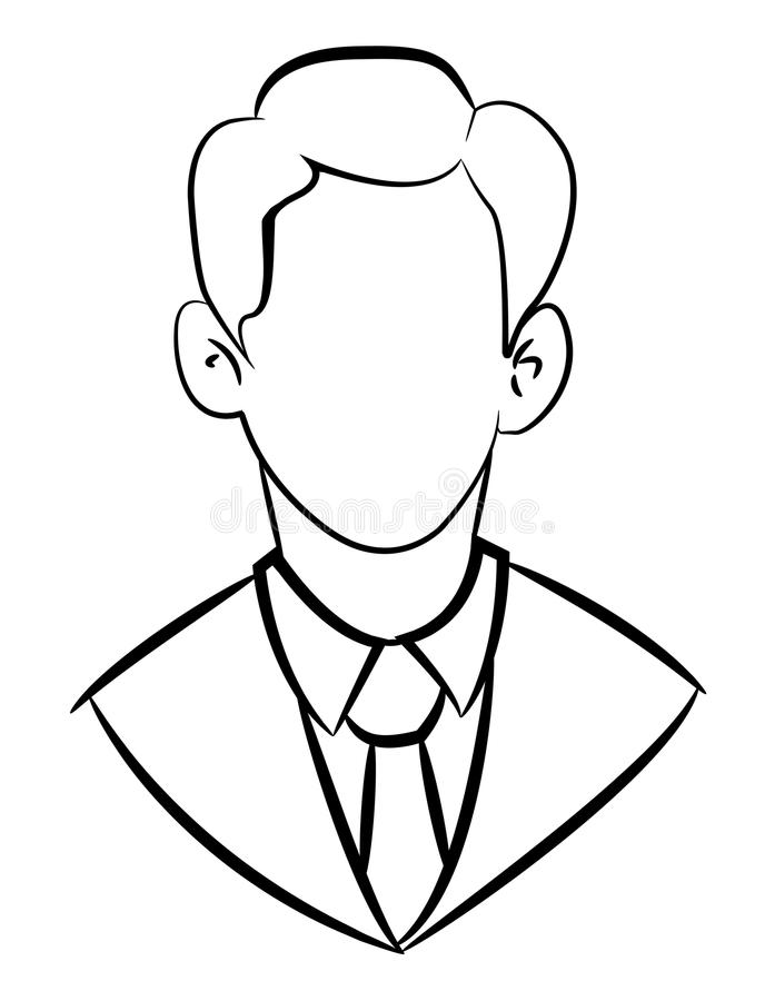 Cartoon Image Of Businessman Icon Leadership Symbol Stock Vector