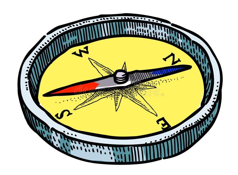 Cartoon Image Of Compass Icon Architecture Symbol Stock Vector