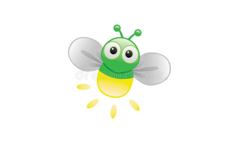 A cartoon image of a firefly. This is A cartoon image of a cute firefly in cartoony style royalty free illustration