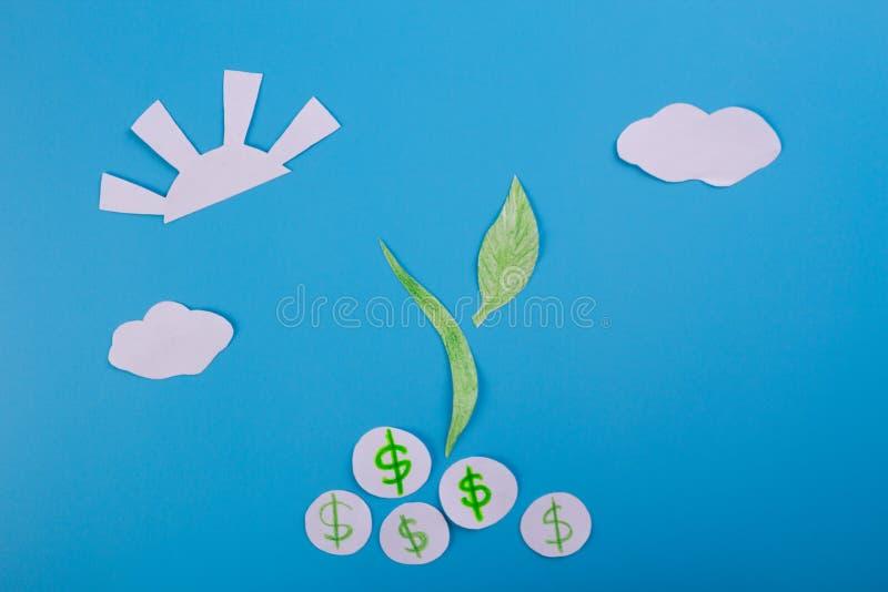 Cartoon image of money tree. Dollar stock images
