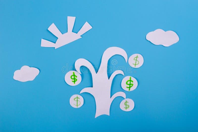 Cartoon image of money tree. Dollar royalty free stock photos