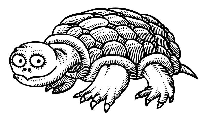 Cartoon image of turtle royalty free illustration