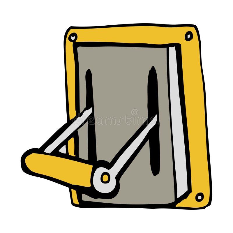 Cartoon Lever Switch : Cartoon industrial machine lever stock vector
