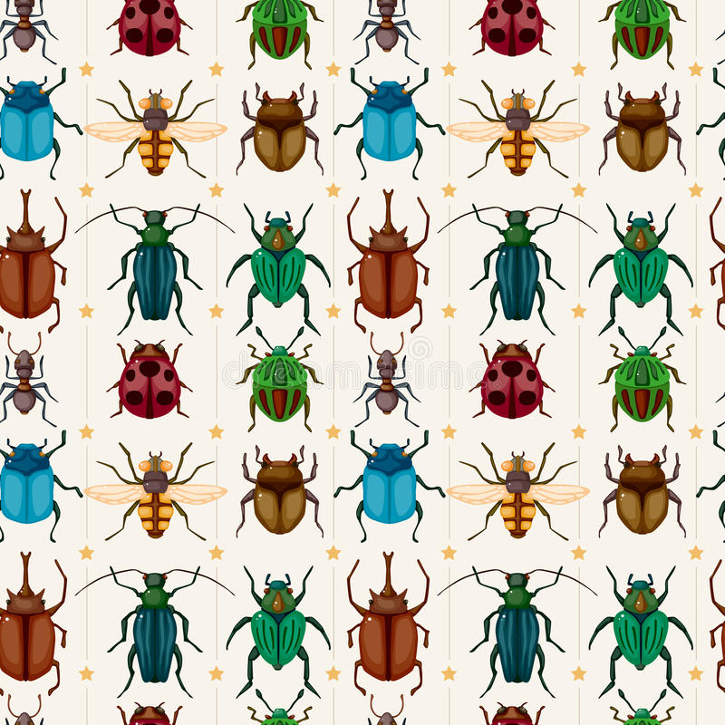 Free Cartoon Insect Bug Seamless Pattern Stock Images - 22031354