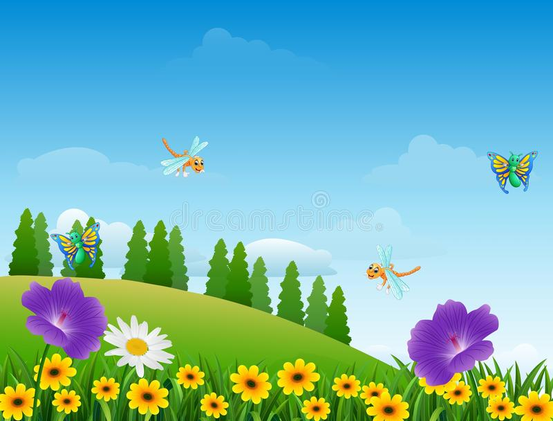 Download Cartoon Insects In The Garden Stock Vector   Illustration Of  Cartoon, Animal: 80180702