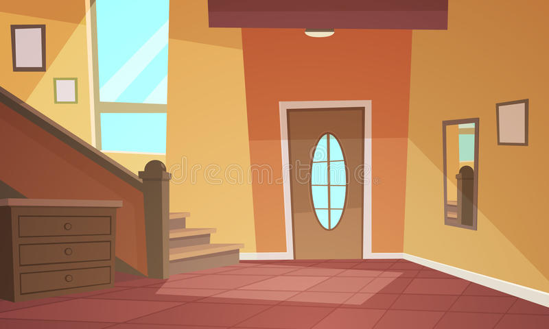 Cartoon Interior royalty free illustration