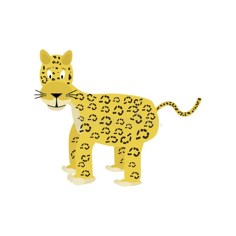 Cartoon jaguar royalty free illustration