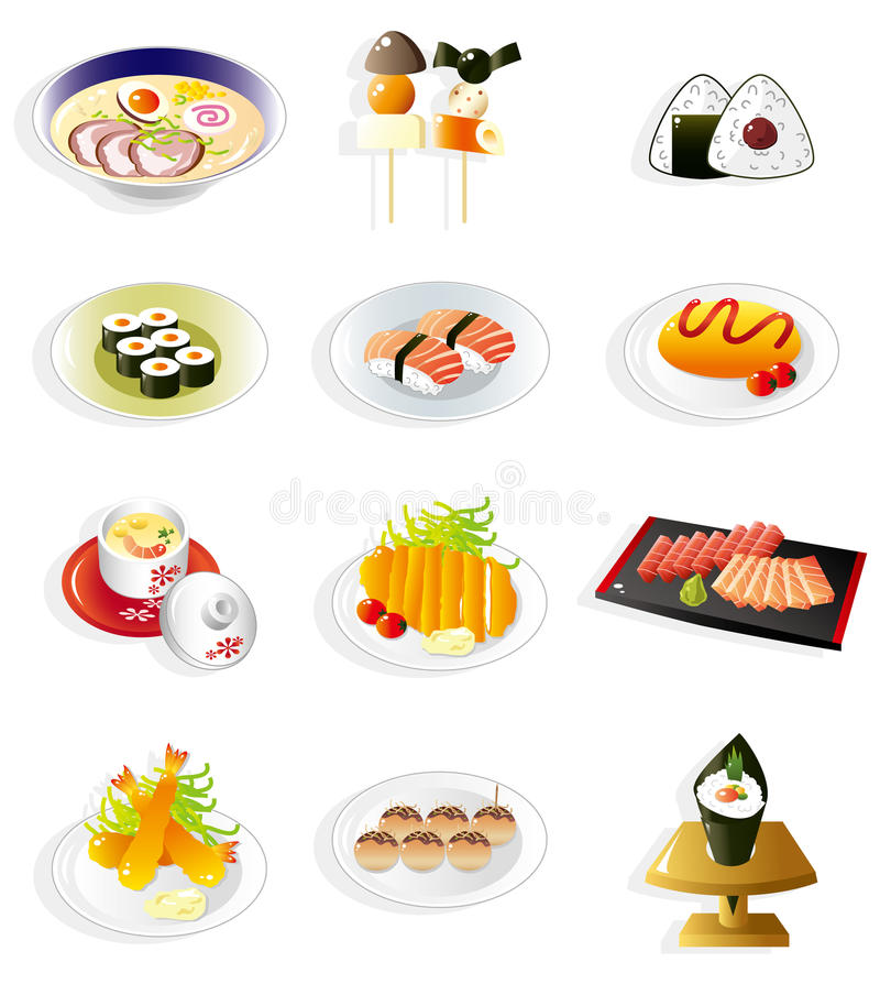 Free Cartoon Japanese Food Icon Royalty Free Stock Images - 17635299